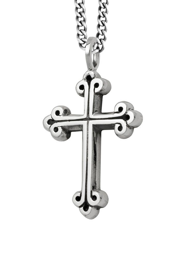 king_baby_necklace_sterling_silver_cross_penant_on_24in_curblink_chain