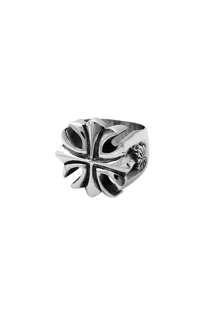 mens silver cross ring