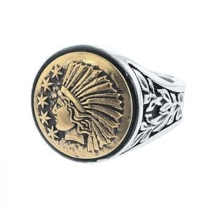 king_baby_ring_gold_alloy_liberty_signet_with_sterluing_silver_shank_with_vine_details