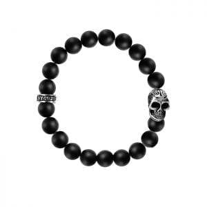 king_baby_bracelet_black_onyx_10mm_beaded_bracelet_with_sterling_silver_day_of_the_dead_skull_charm