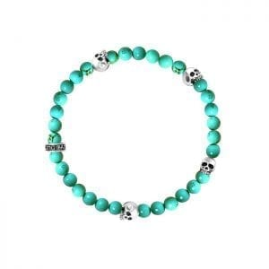 king_baby_bracelet_turquoise_6mm_beaded_stretch_bracelet_with_four_sterling_silver_skull_stations
