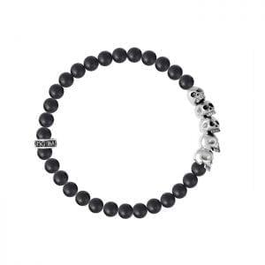 king_baby_bracelet_black_onyx_6mm_beaded_bracelet_with_five_sterling_silver_skulls
