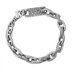 king_baby_bracelet_sterling_silver_oval_link_bracelet_with_crosshatch_textured_finish