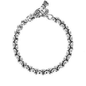 king_baby_bracelet_sterling_silver_chain_link_bracelet