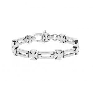king_baby_bracelet_sterling_silver_rectangular_and_barons_cross_link_bracelet_1