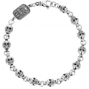 king_baby_bracelet_sterling_silver_skull_and_round_link_chain_barcelet