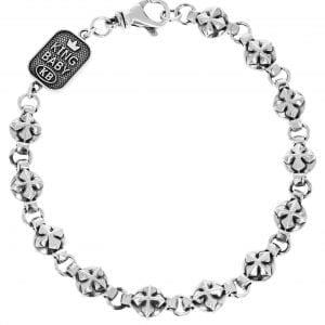king_baby_bracelet_sterling_silver_MB_cross_and_round_link_chain_bracelet