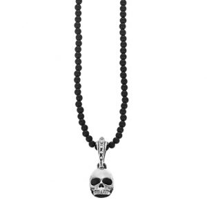 king_baby_necklace_sterlng_silver_skull_hangs_from_3mm_black_onyx_beaded_neclace_24in