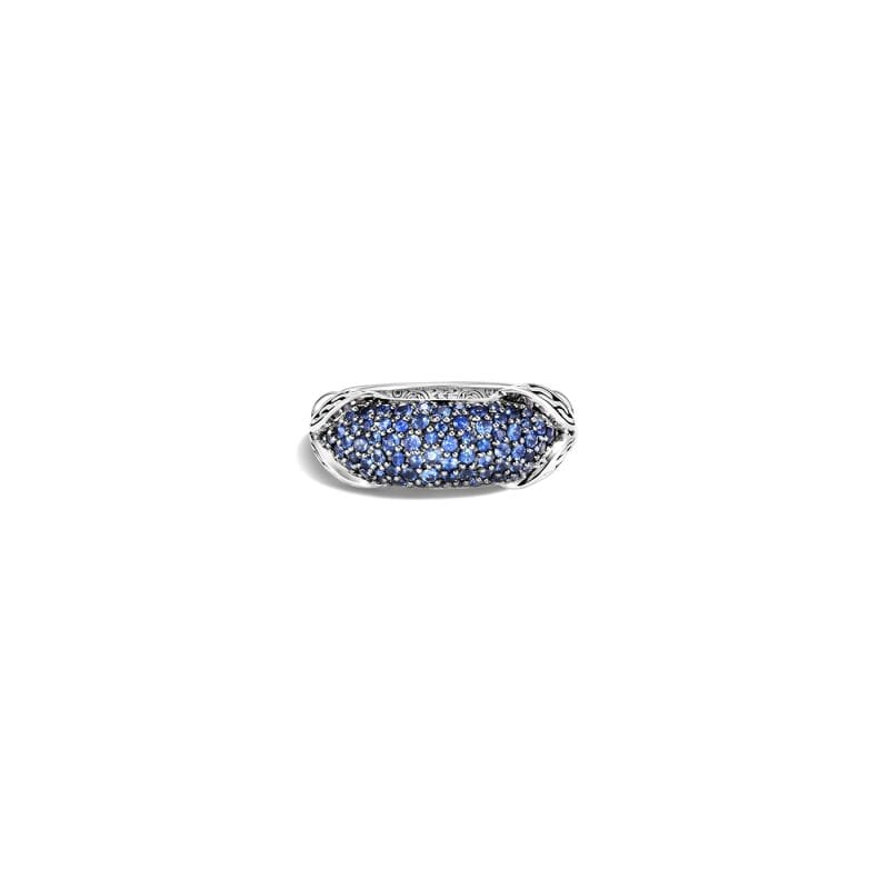 John Hardy Asli Link Dome Ring with Blue Sapphires, Size 7