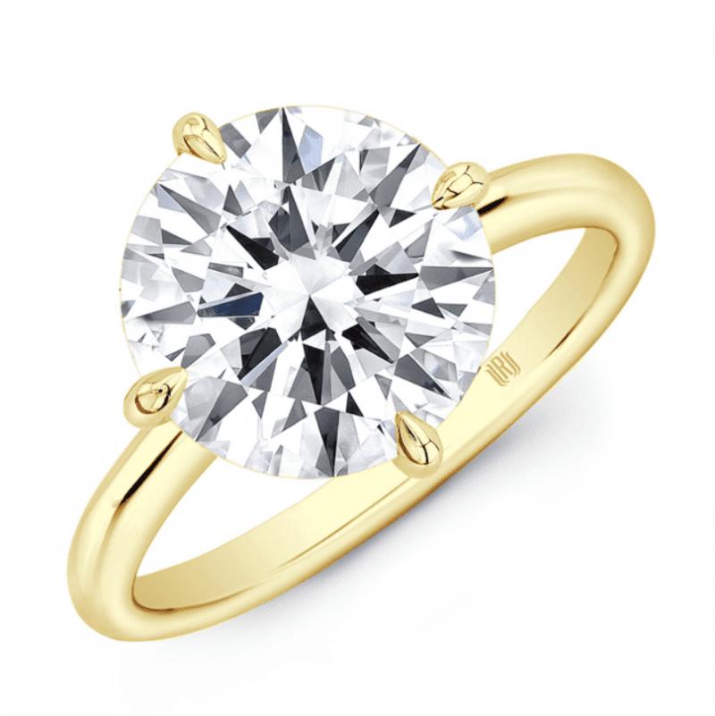 6.52ct Round Diamond Solitaire Engagement Ring