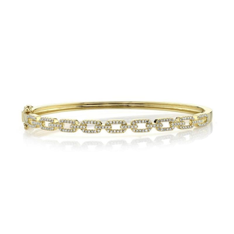 baileys club collection pave diamond link bracelet in 14kt yellow gold