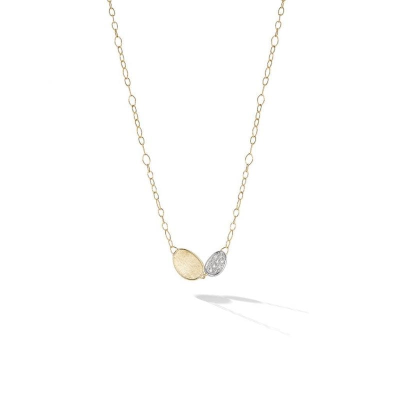Marco Bicego 18k Yellow Gold Petite Double Leaf Necklace