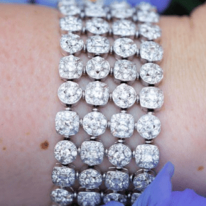 diamond bracelet on model