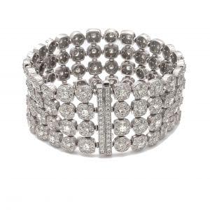 Four Row Diamond Bracelet