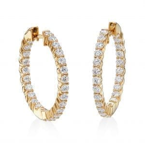 Bailey's Club Collection Inside Out Diamond Hoop Earrings