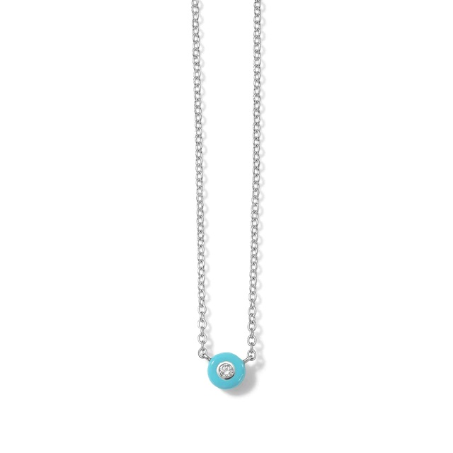 Ippolita Stardust Solitaire Chain Necklace in Turquoise