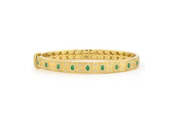 Jude Frances Moroccan Thick Star And Stone Bracelet