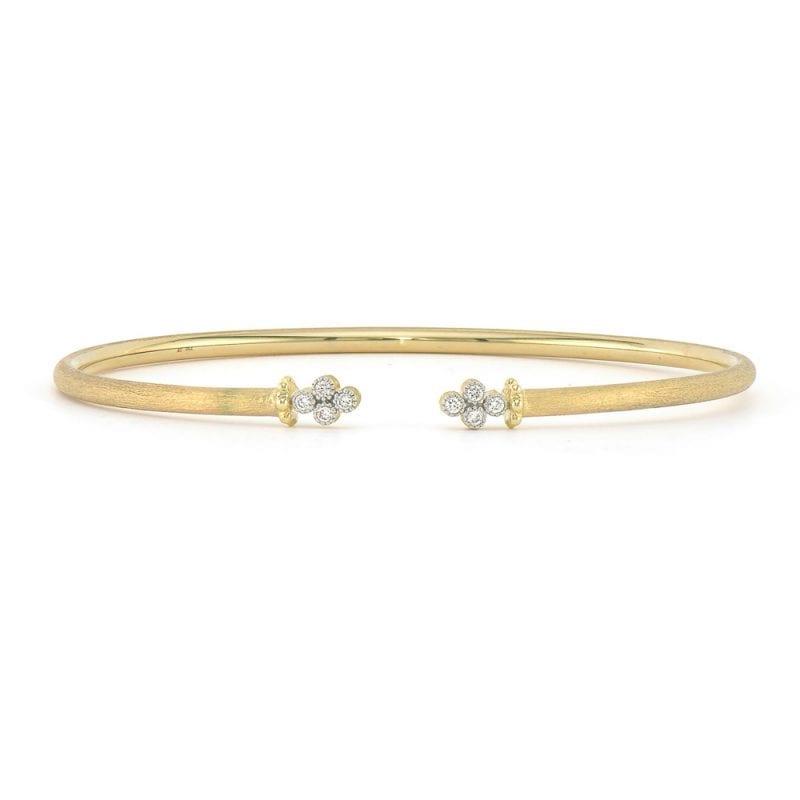Jude Frances Provence Open Diamond Quad Flexible Bracelet