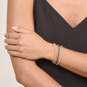 Jude Frances Provence Continuous Diamond Quad Bracelet