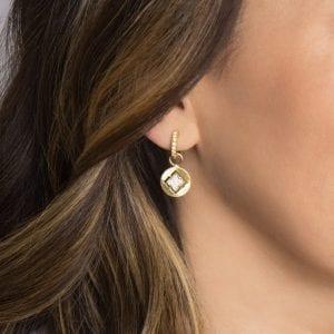 Jude Frances Moroccan Quatrefoil Disc Earring Charms