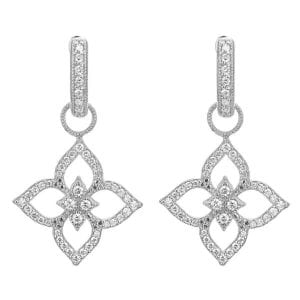 Jude Frances Moroccan Flower Open Pave Earring Charms