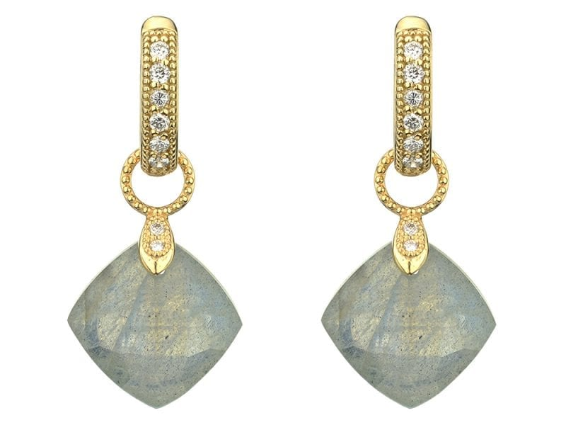 Jude Frances Small Cushion Silhouette Earring Charms