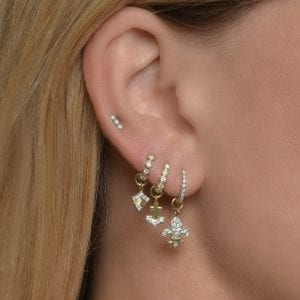 Jude Frances Delicate Provence Champagne Hoop Earrings