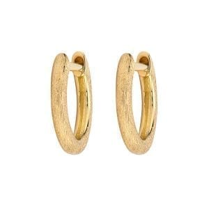 Jude Frances Plain Delicate Hoop Earrings