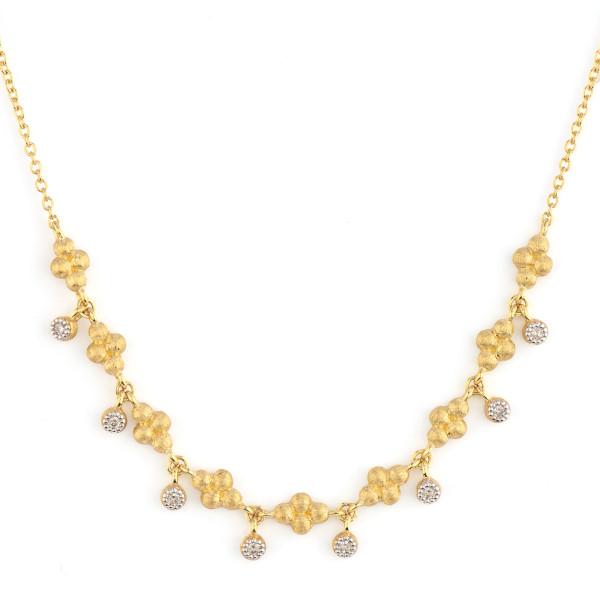 Jude Frances Jackie Petite Pendant Necklace with Diamond Dangle and Quads