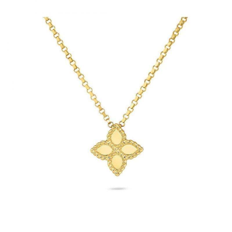 Roberto Coin Princess Flower Pendant Necklace