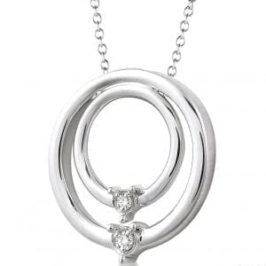 Nested Circle Pendant Necklace in Sterling Silver