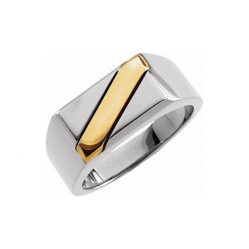Gents Mixed Metal Ring