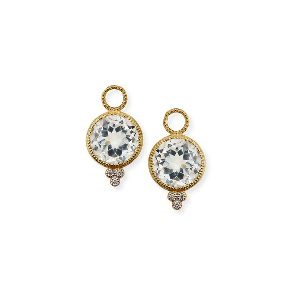Jude Frances 18K Provence Round Earring Charms