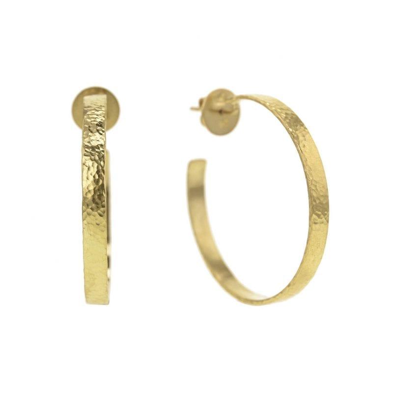 Elizabeth Locke Flat Ribbon Hoop Earrings