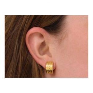Elizabeth Locke Banded Hoop Earrings