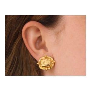 Elizabeth Locke 'Fat Bee' Earrings