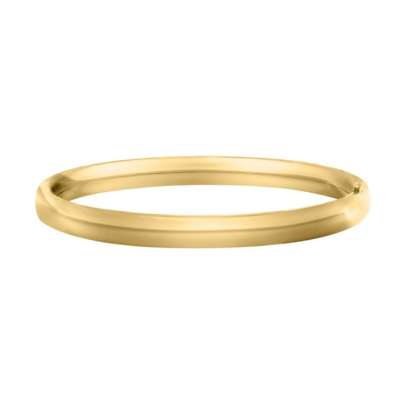 """Children's 4.5"""" Polished Bangle in 14K Yellow Gold"""