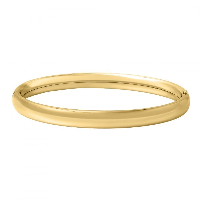 """Children's 5.25"""" Polished Bangle in 14K Yellow Gold"""