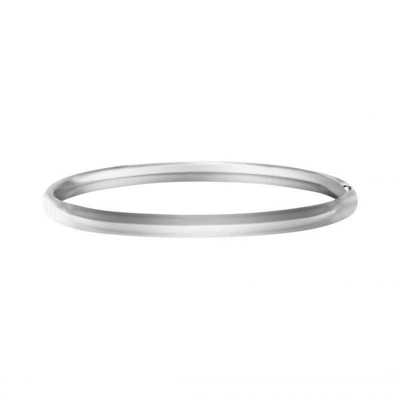 Plain Polished Sterling Silver Bangle