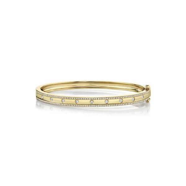 Pave Diamond Bangle in 14K Yellow Gold