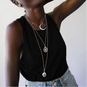Monica Rich Kosann Infinity White Sapphire Locket