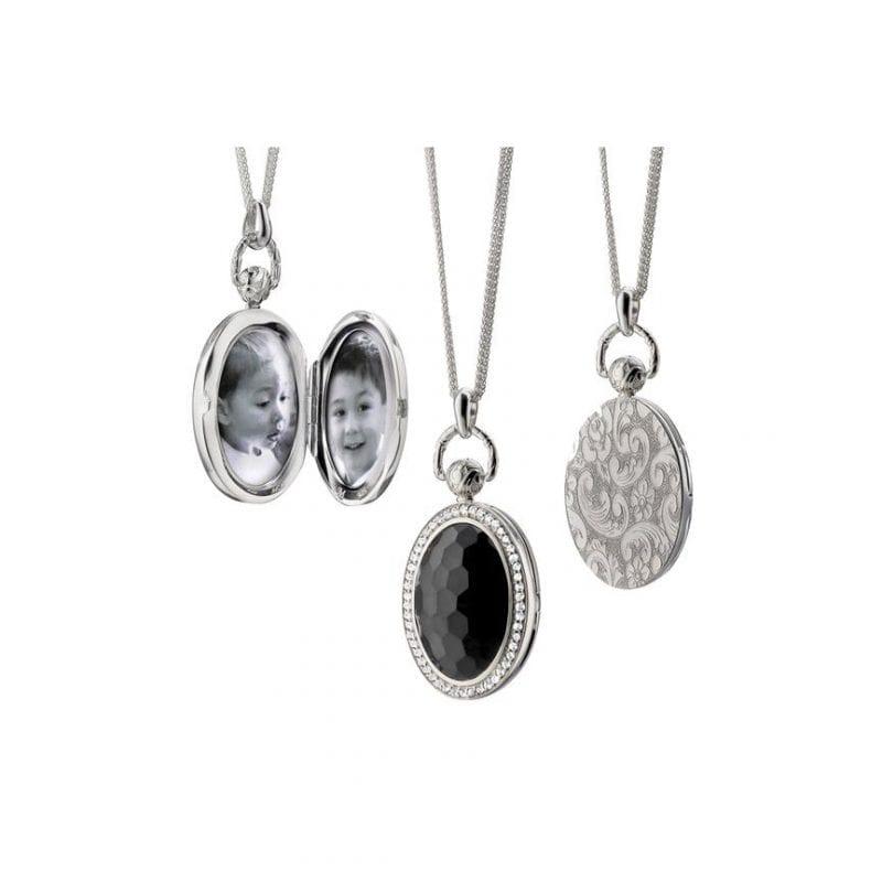 Monica Rich Kosann Black Onyx Stone Locket