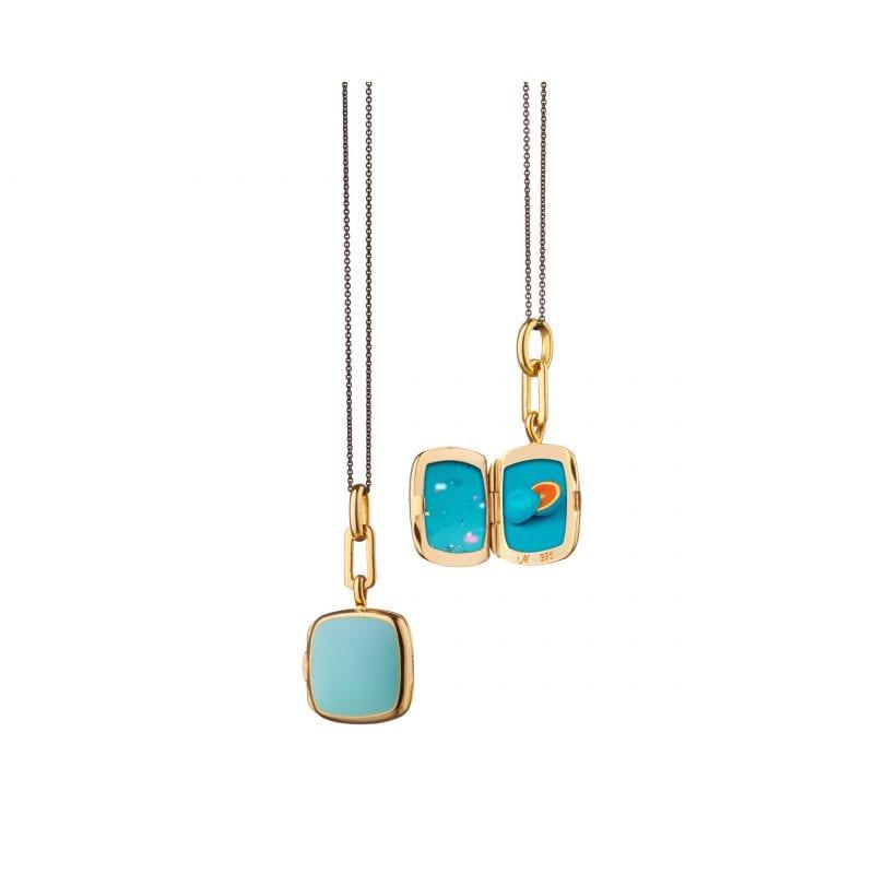 Monica Rich Kosann Turquoise Enamel Locket