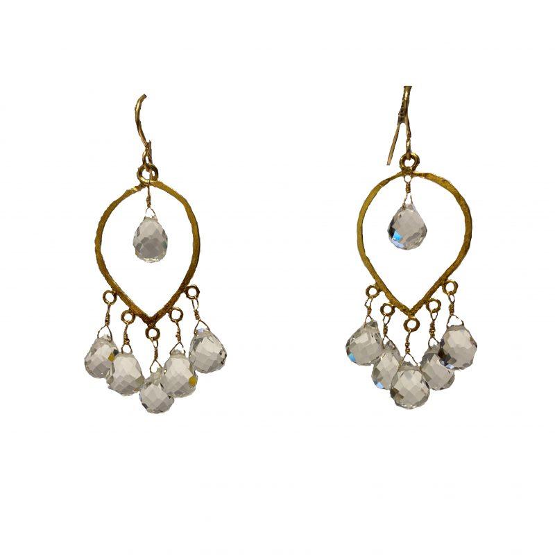 Wendy Perry Gemma Crystal Chandelier Earrings