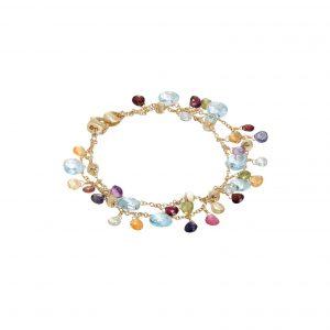 Marco Bicego Paradise Mixed Gemstone Double Stand Bracelet