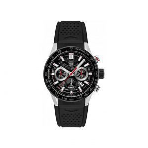 Front view of the Tag Heuer 43mm Carrera Automatic Chronograph Watch