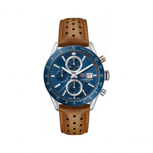 Front view of the Tag Heuer 41mm Automatic Chronograph Carrera Watch