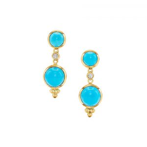 Temple St Clair Double Drop Earrings