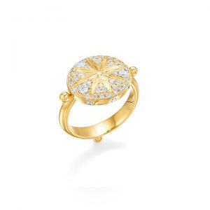 Temple St Clair Diamond Sorcerer Ring in yellow gold and diamonds