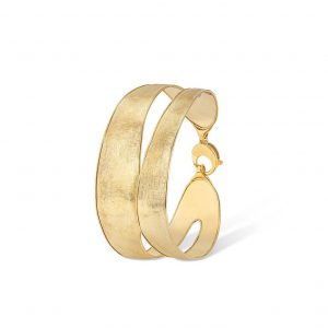 Front image view of the Marco Bicego Lunaria Double Row Bangle